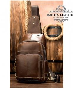 Túi đeo trước ngực nam da bò - BHM8575