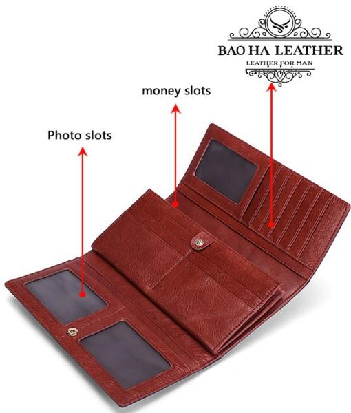 Bên trong ví bạn có thể để rất nhiều tiền, thẻ card, ảnh...