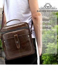 Túi da nam đeo chéo xách tay - BHM8713