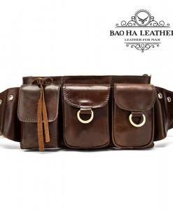 Túi nam đeo bụng da bò phong cách - BHM8952