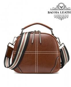 Túi nữ đeo chéo da bò - BHW3120 - Dây dù phối màu