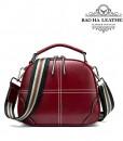 Túi nữ đeo chéo da bò - BHW3120R- Dây dù phối màu phong cách và trẻ trung