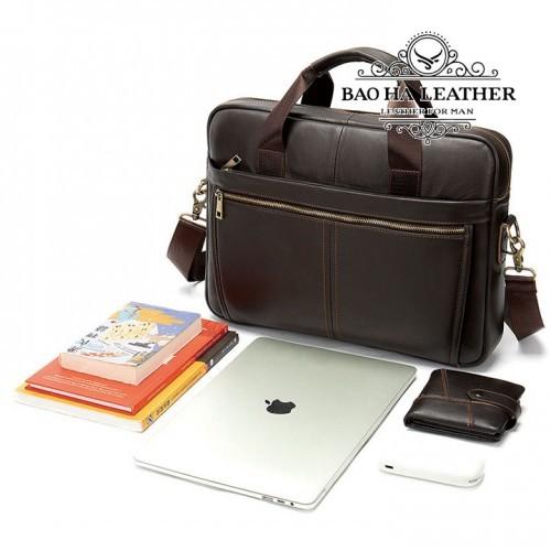 Cặp nam đựng laptop da bò - BHM8752