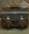 Túi Đựng Máy Ảnh Da Bò Thô Nguyên Tấm - BHL840