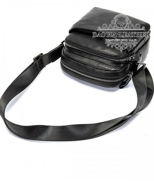 Túi đeo chéo nam mini da bò - BHM6027 - Da bò thật 100%