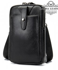 Túi da nam đeo hông da thật - BHM711 (1)