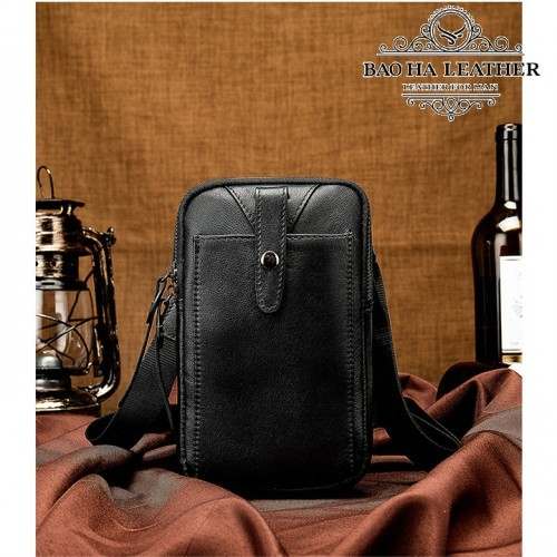 Túi da nam đeo hông da thật - BHM711