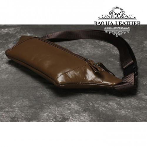 Túi nam đeo bụng da bò - BHL140N