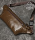 Túi nam đeo bụng da bò - BHL140N - Màu Nâu vàng