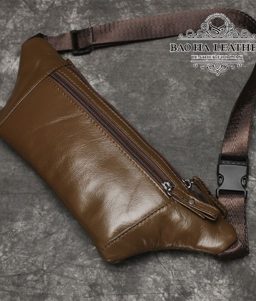 Túi nam đeo bụng da bò - BHL140N (9)