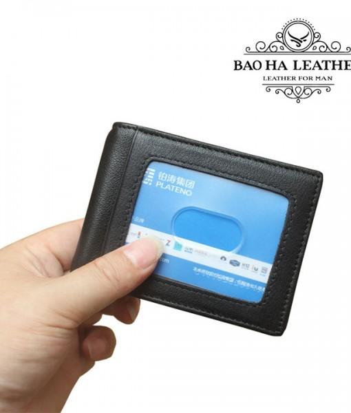 Ví kẹp tiền da bò chống RFID - BHL114 (10)