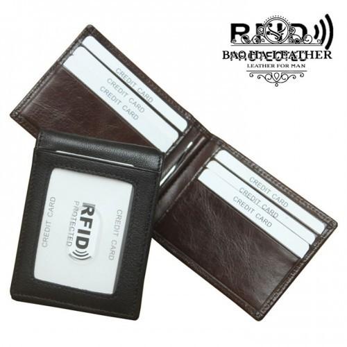 Ví kẹp tiền da bò chống RFID - BHL114
