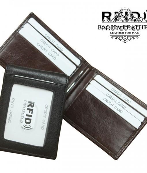 Ví kẹp tiền da bò chống RFID - BHL114 (4)