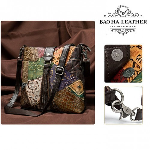 Túi đeo chéo nữ da bò cao cấp - BHM6382