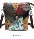 Túi đeo chéo nữ da bò thật nhiều màu - BHW6388