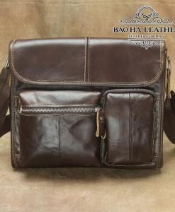 Túi da đeo chéo MARRANT - BHM380 Nâu đậm