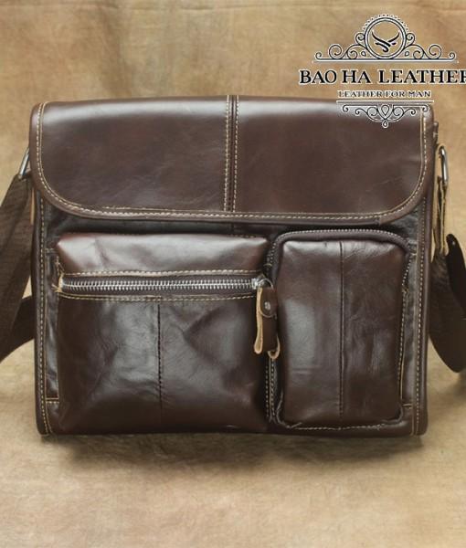 Túi da đeo chéo MARRANT - BHM380 Nâu đậm (2)