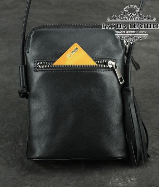 Túi nữ đeo chéo da bò mini - BHDJ006 (1)