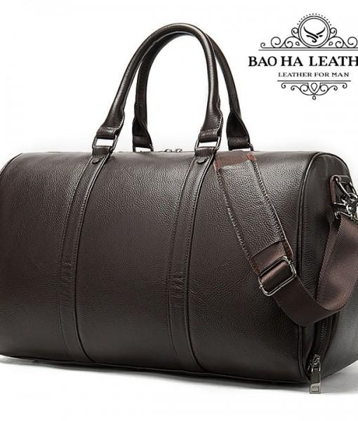 Túi trống da bò du lịch cao cấp BHM8706C Cà phê