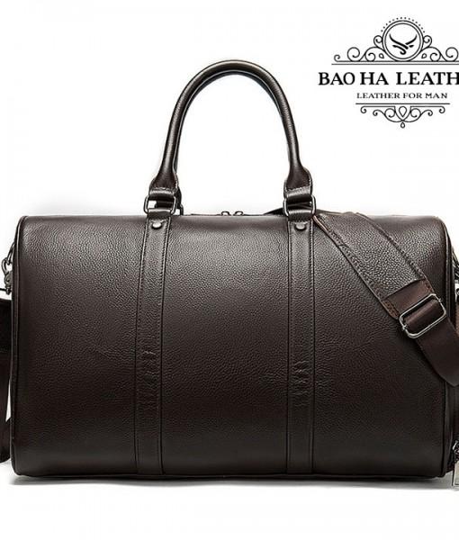 Túi trống da bò du lịch cao cấp BHM8706C Cà phê (5)