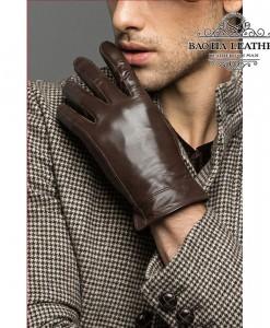 Găng tay nam da cừu lót lông - BHY8717