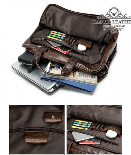 Thêm ngăn khóa kéo phụ phái trước trước có ngăn nhỏ cài thẻ card, ngăn khóa kéo...