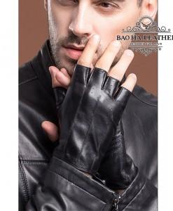 Găng tay da nam cụt ngón - BHY8861
