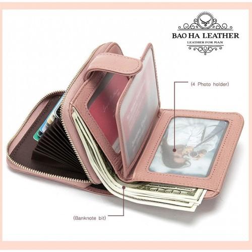 Ngăn cúc bấm thiết kế để ảnh, tiền mặt, giấy tờ tùy thân...