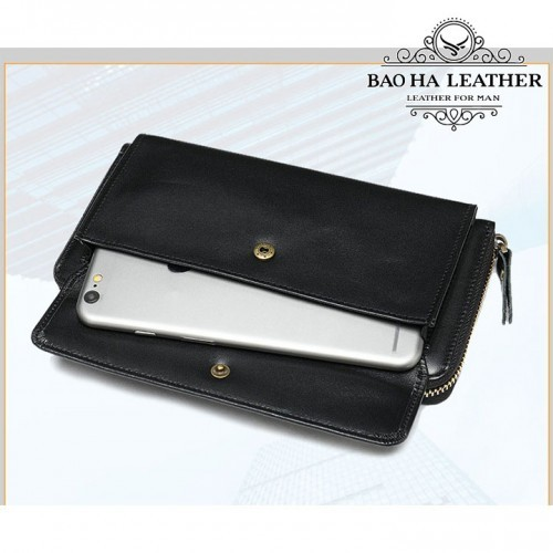Thêm ngăn phụ phía trước ví da bạn có thể điện thoại