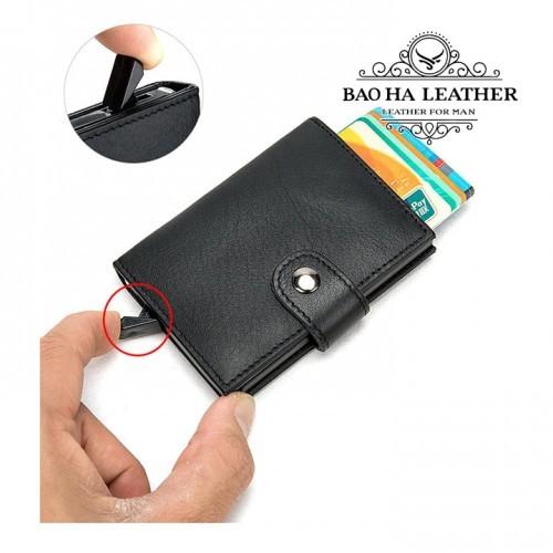 Ví đựng thẻ card tự động - BHM8602 - Với nút bấm bật thẻ tự động