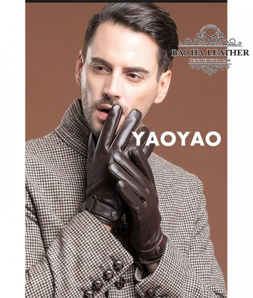Bao da nam lót lông siêu ấm - BHY8791N Màu Nâu cà phê sang trọng