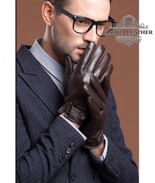 Bao da nam lót lông siêu ấm - BHY8791N Màu Nâu  Cà phê