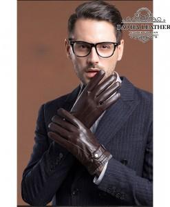 Găng tay da nam cổ len - BHY8763N Sang trọng mà vẫn ấm áp