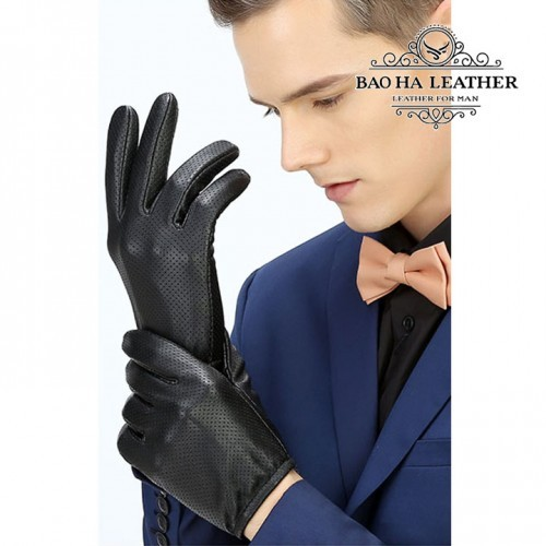 Găng tay da nam lót vải thoảng khí - BH6617