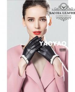 Găng tay nữ viền nơ lót vải - BHY8756 Nữ tính nhẹ nhàng