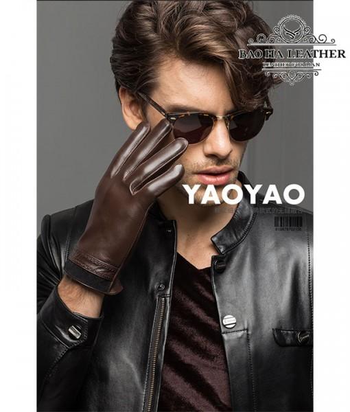 Găng tay nam da cừu lót lông - BHY8719 (1)