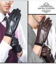 Găng tay nam da cừu lót lông - BHY8719 (5)