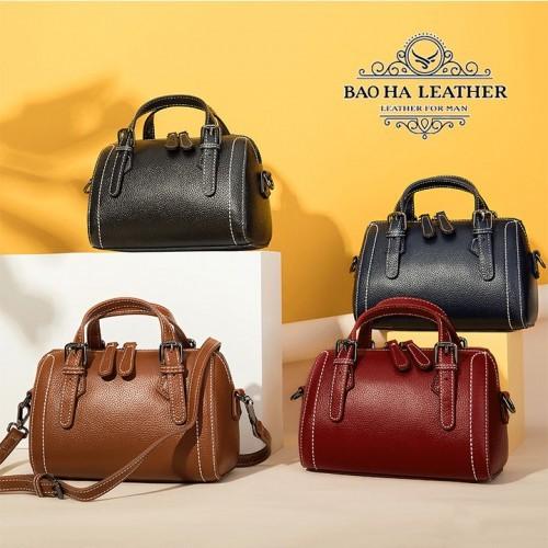 Túi đeo chéo nữ nhỏ da bò nguyên tấm - BHM9002 với 4 màu sắc