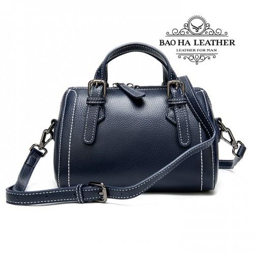 Túi đeo chéo nữ nhỏ da bò nguyên tấm - BHM9002 - Màu xanh dương