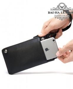 Thêm ngăn để điện thoại bên ngoài ví