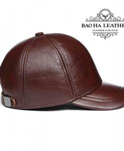 Nón da bò dành cho nam giới - BHY1963 Màu Đỏ rượu vang