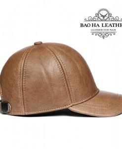 Nón da bò dành cho nam giới - BHY1963N Màu Nâu bò
