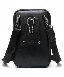 Mặt sau túi k=có khe luồn qua dây lưng và móc khóa để móc vào đai quần.
