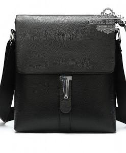 Túi đeo chéo nam da bò thật MARRANT BHM8965 Màu Đen (8)