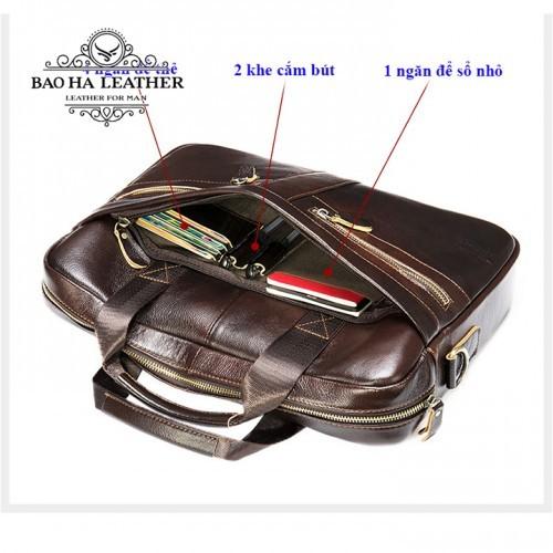 Ngăn phụ trước túi bên trong có thêm nhiều ngăn nhỏ tiện lợi