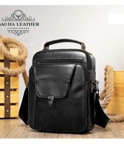 Túi da đeo chéo dáng hộp - BHM7329D màu Đen