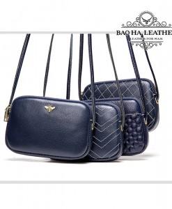 Túi nữ đeo chéo da bò mini - BHM8201 màu Xanh