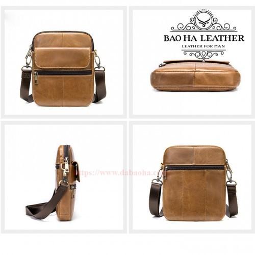 Túi đeo chéo nhỏ MARRANT - BHM7350 Nâu bò