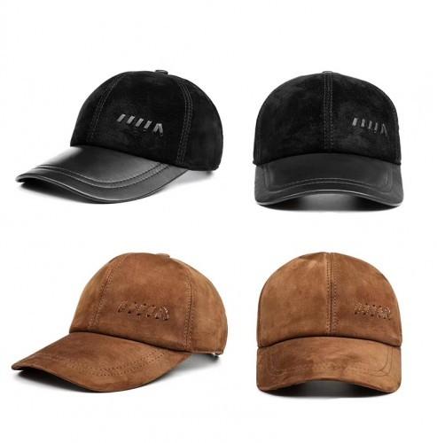 Mũ da lộn nam BH1981 Màu Nâu bò và Đen.