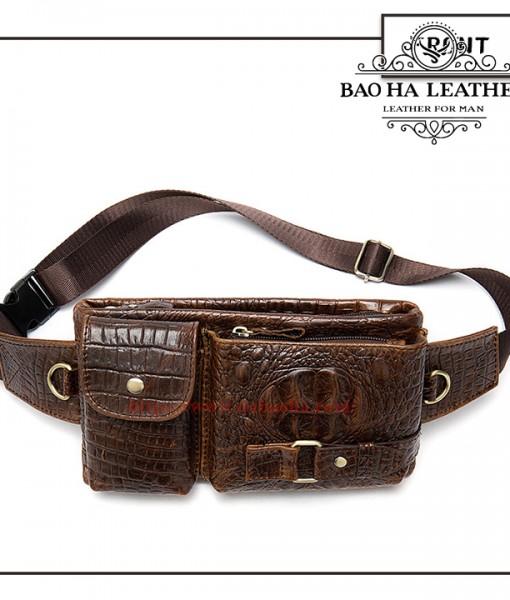 Túi da đeo bụng - BHM9080 Màu Nâu Mới (16)